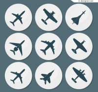 Round aircraft Icon