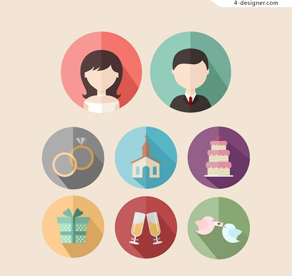 Round wedding Icon
