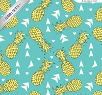 Seamless pineapple background