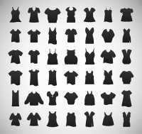 Silhouette silhouette icons for women