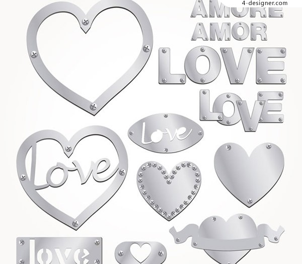 Silver Love and art word