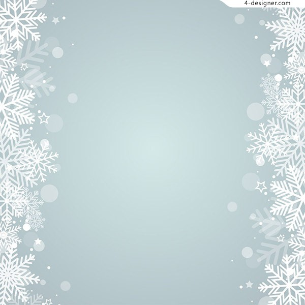 Snowflake background in winter