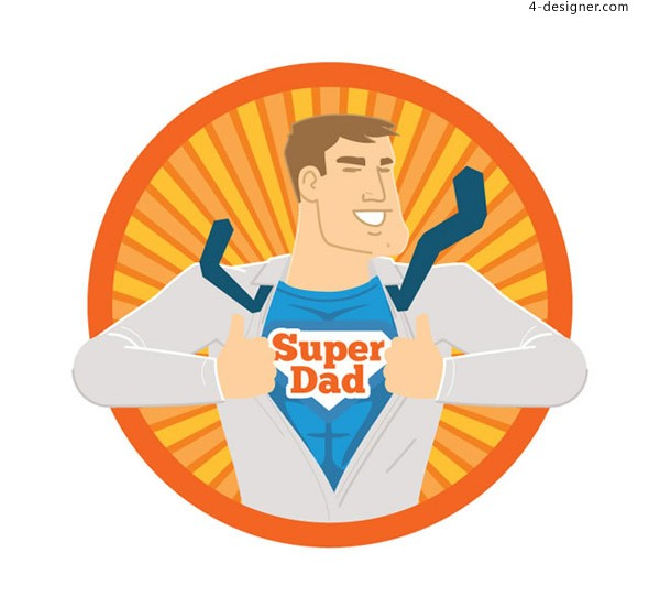 Super father s Day vector