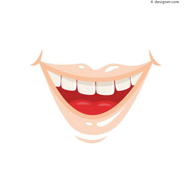 The mouth vector of cartoon smile