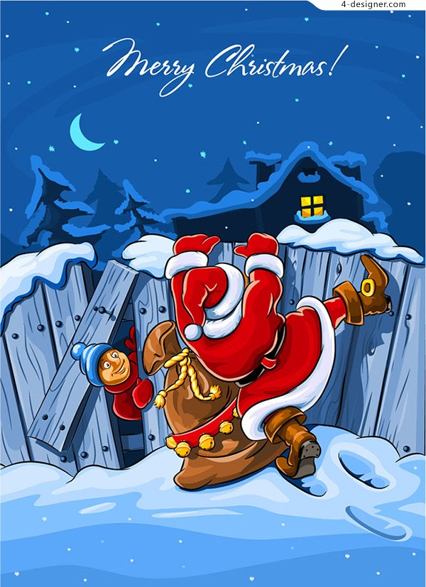 The wall of the Santa Claus