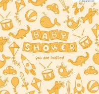Toy poster for baby party