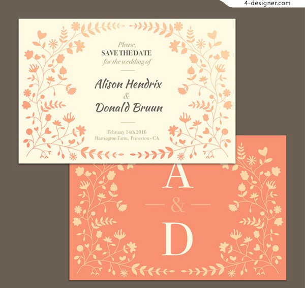 4 Designer Wedding Invitation Card