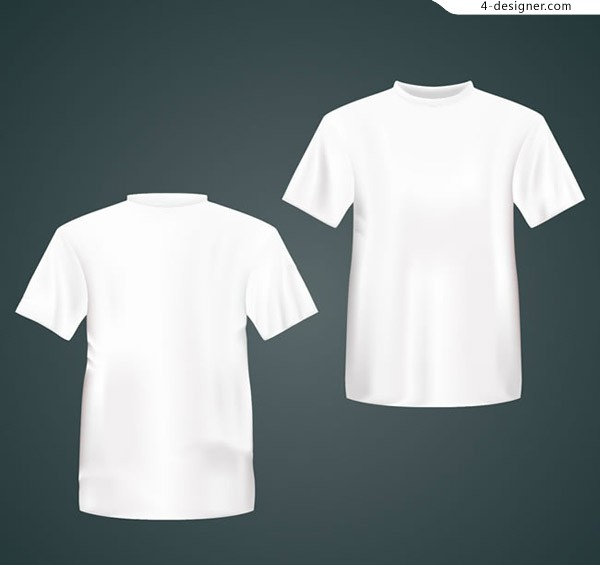 White T shirt on the reverse side