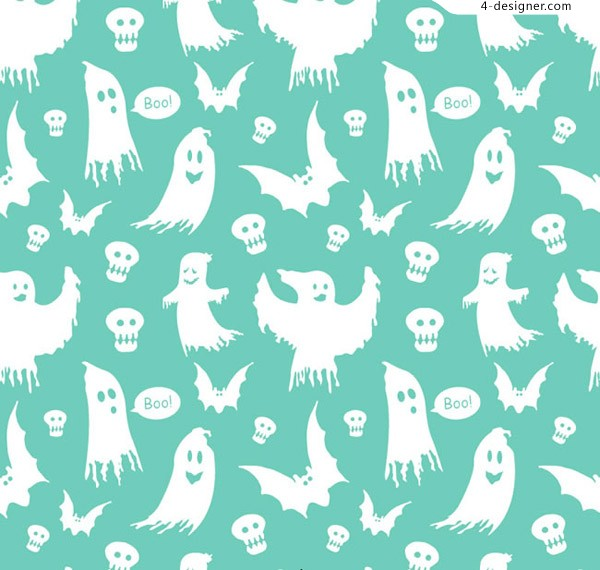 White ghost seamless background