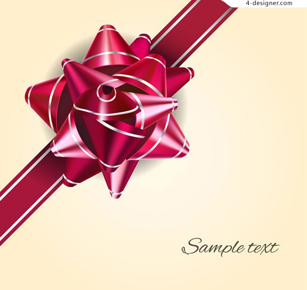 Wine red ribbon flower