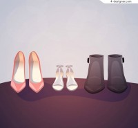 Women shoes vector
