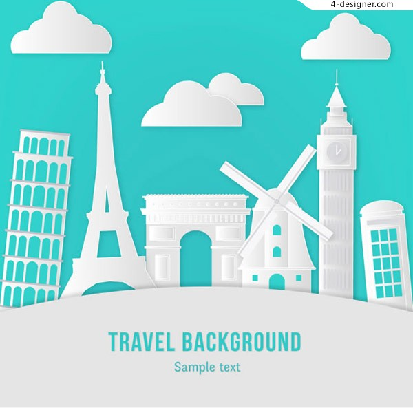 World travel clip painting