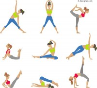 Yoga female movements