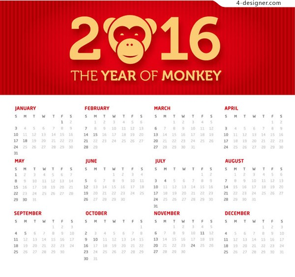 2016 year of the monkey year