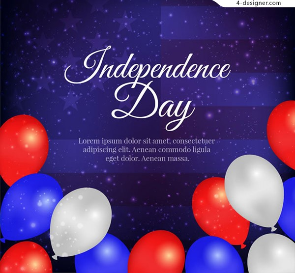 American Independence Day card