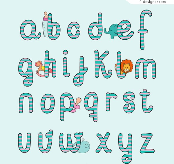 Baby style English letters
