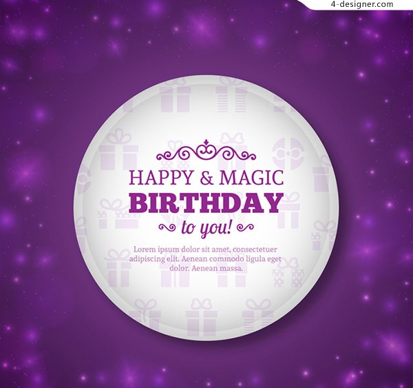Birthday blessing card vector