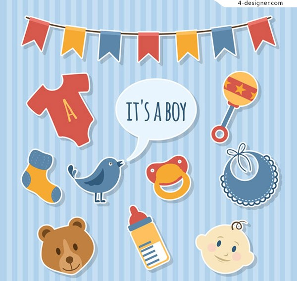 Birthday party decoration elements