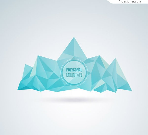 Blue iceberg vector