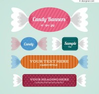 Candy banner vector
