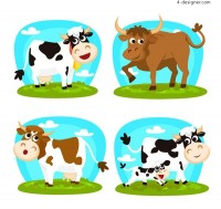 Cartoon cattle design