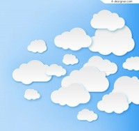 Cloud clipping vector