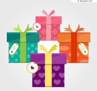 Color gift box vector