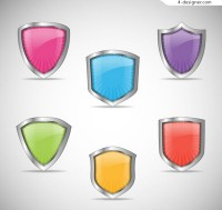 Color texture shield vector