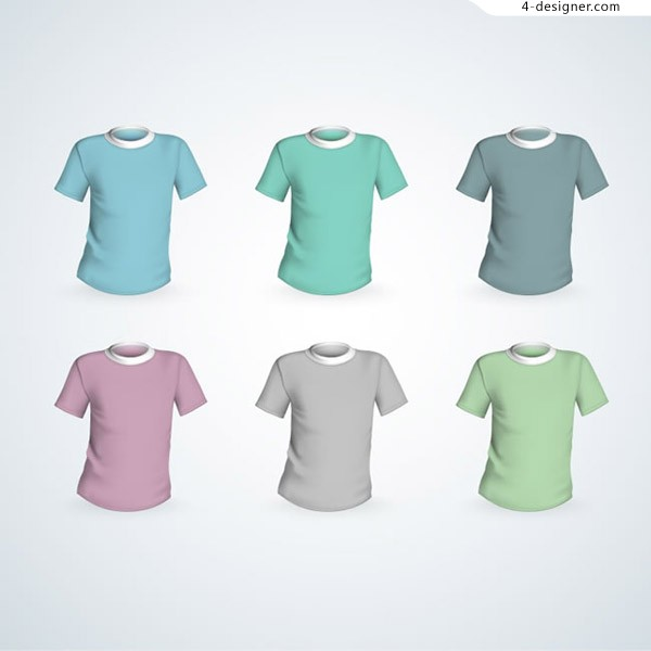 Colorful short sleeve T shirt