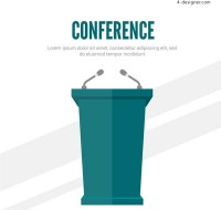 Conference room podium vector
