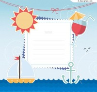 Decorative note for nautical elements