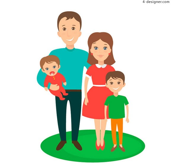 Family of four vectors