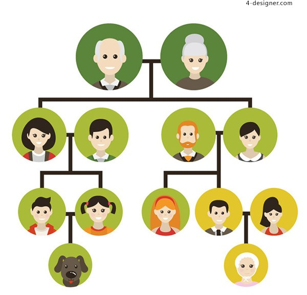 Family tree illustration vector