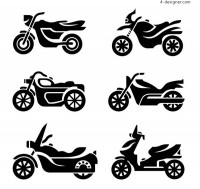 Fashion motorcycle silhouette