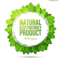 Label of natural environmental protection product