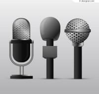 Microphone vector material