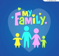 My family vector