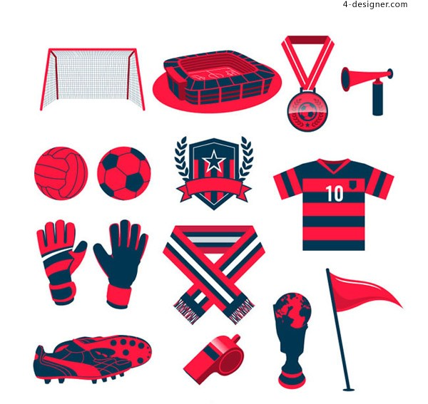 Red football elements