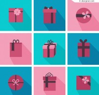Red gift box Icon