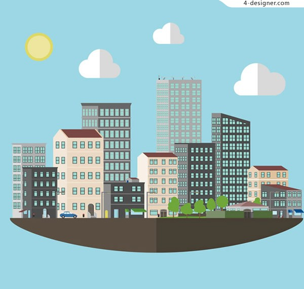 Residential complex vector