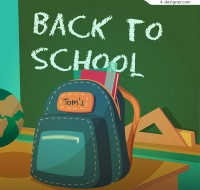 School bag illustration