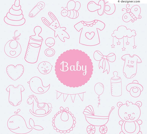 Seamless background for baby articles