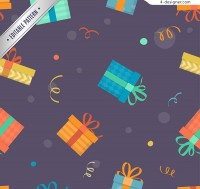 Seamless background of gift box
