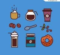 Simple pen coffee element icon