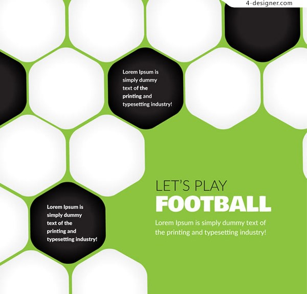 Soccer texture background vector