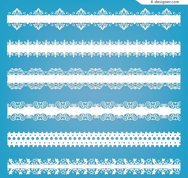 White lace strip vector