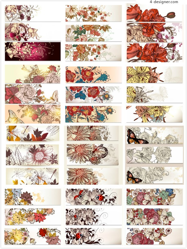 Classical flowers BANNERS