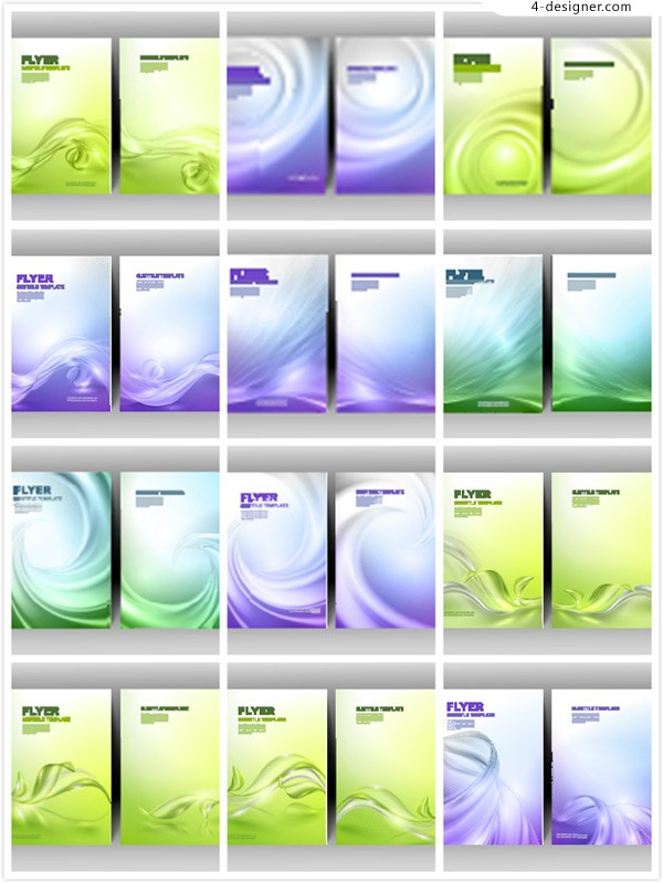 Colorful single page poster vector