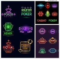 Creative letters of neon lights