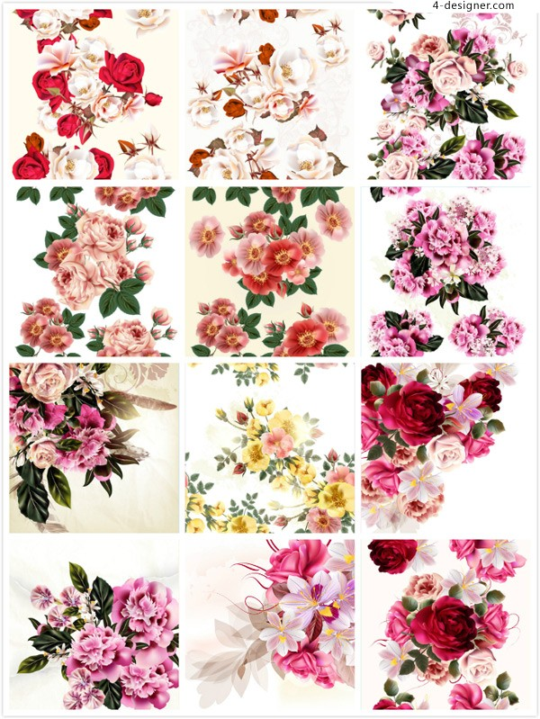 Flower painting vector